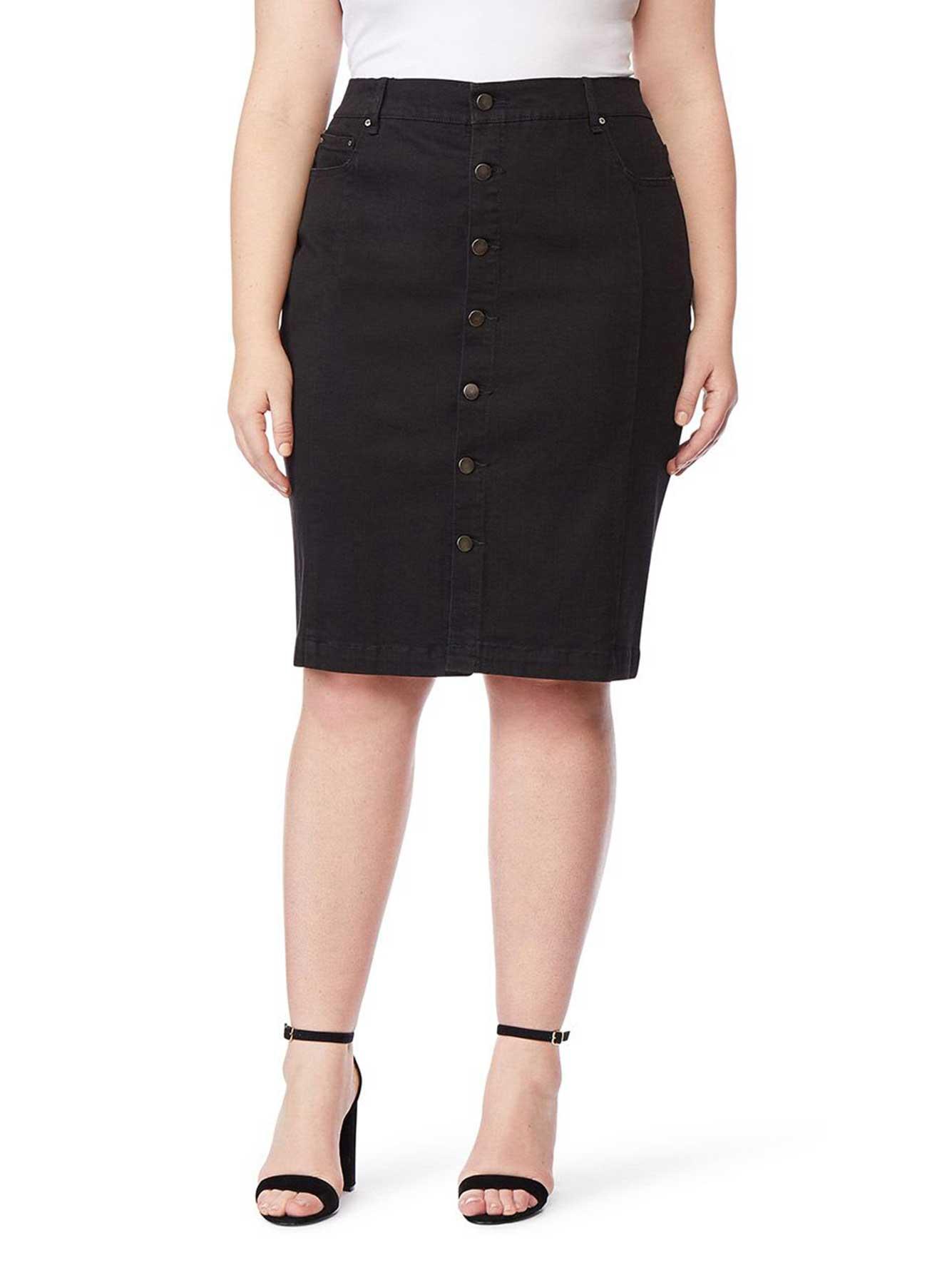 a46ba8c33c Black Denim Skirt - Rebel Wilson | Addition Elle