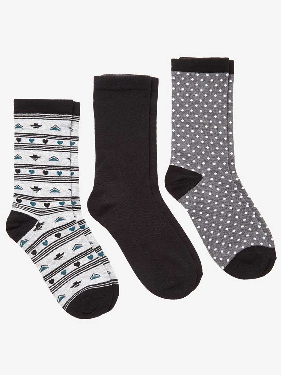 Aztec Print 3-Pack Combo Socks