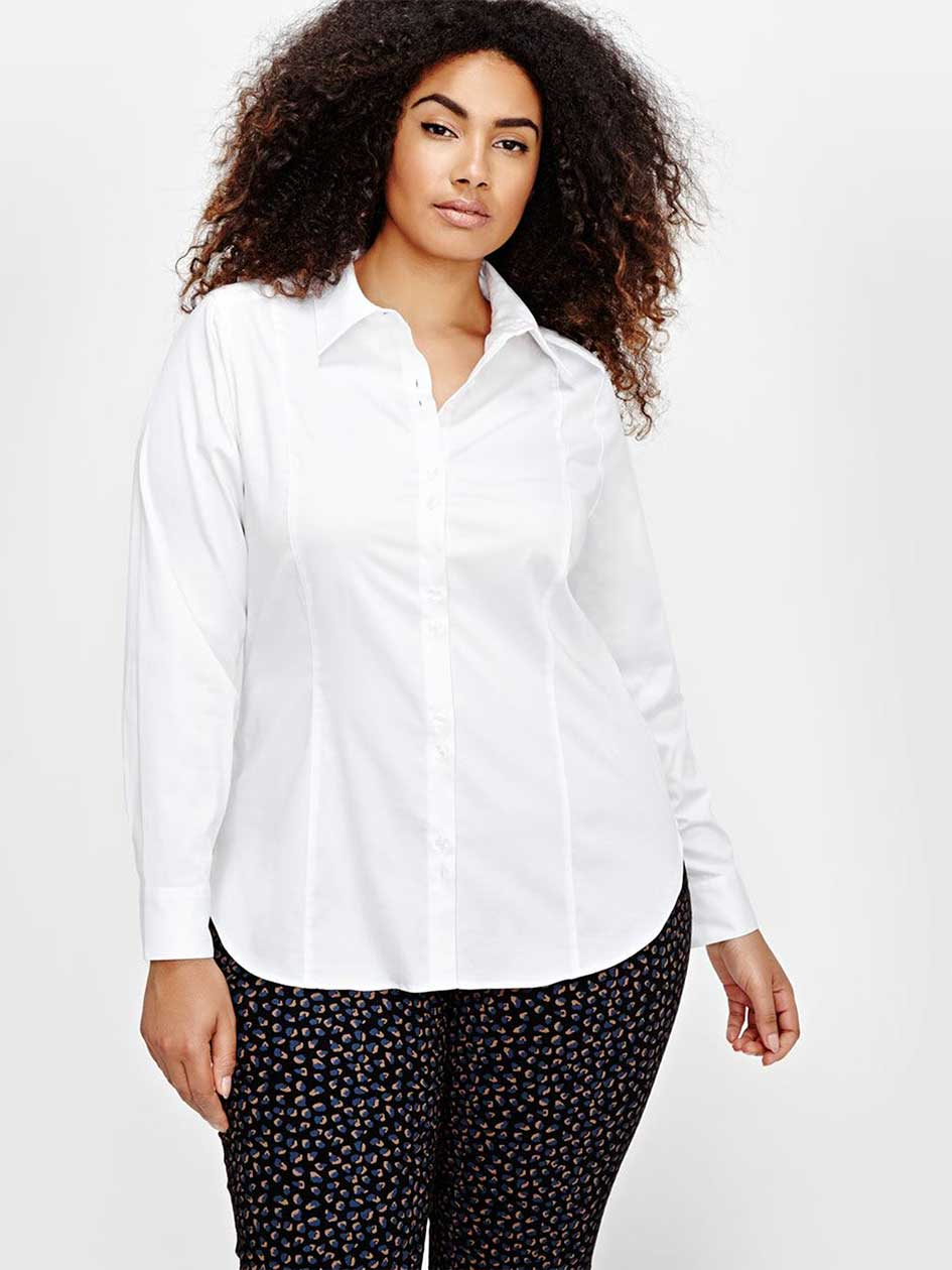 Michel Studio Long Sleeve Fitted Shirt