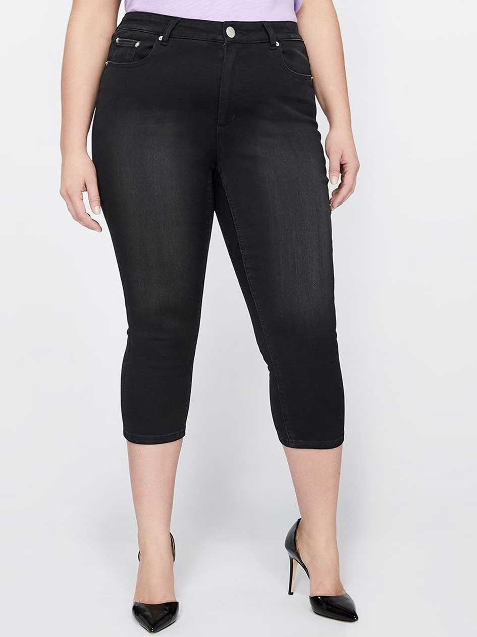 L&L Super Soft Cropped Black Jegging