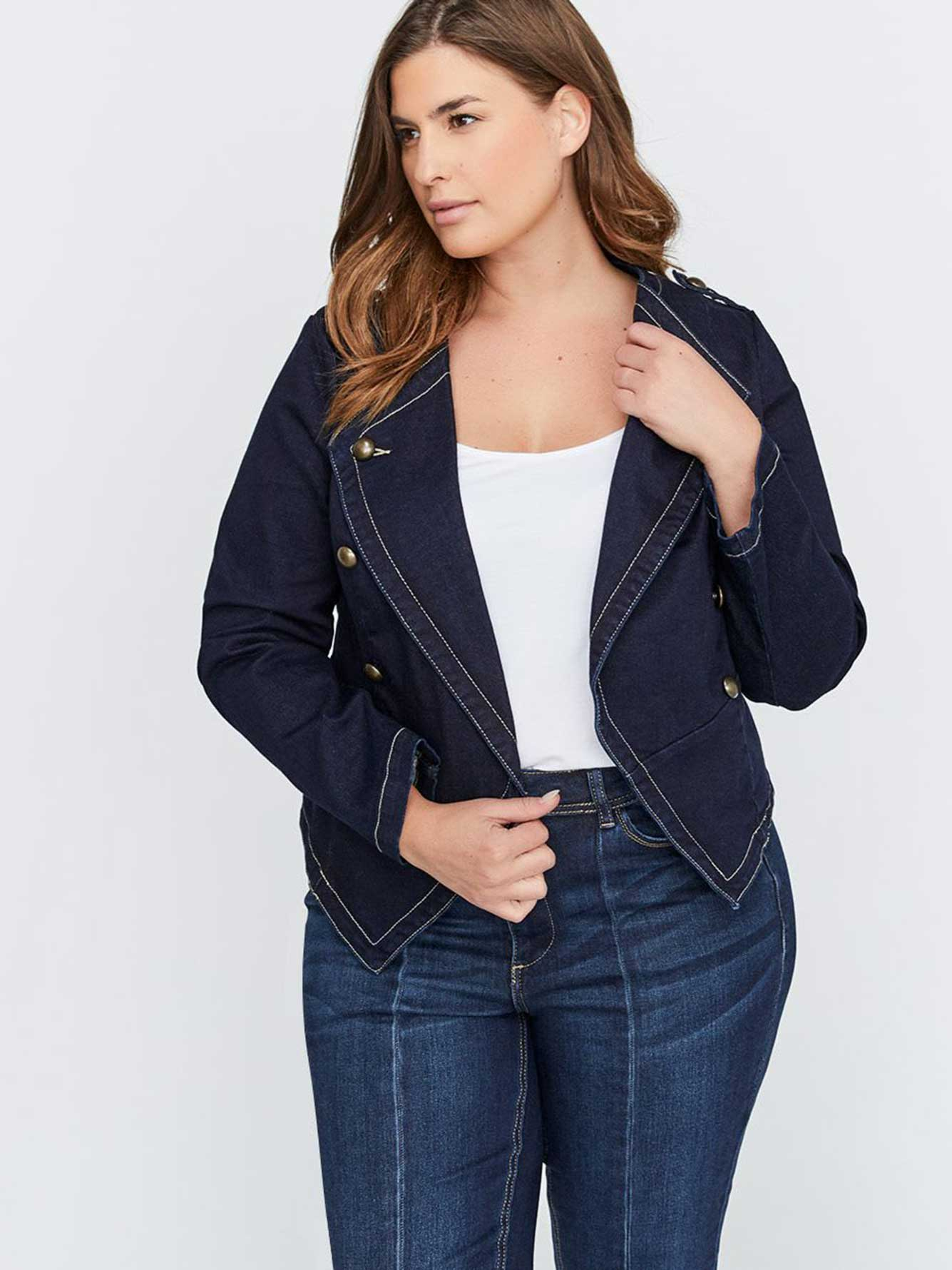 c6bf8592aa586 Military Jean Jacket - L&L | Addition Elle