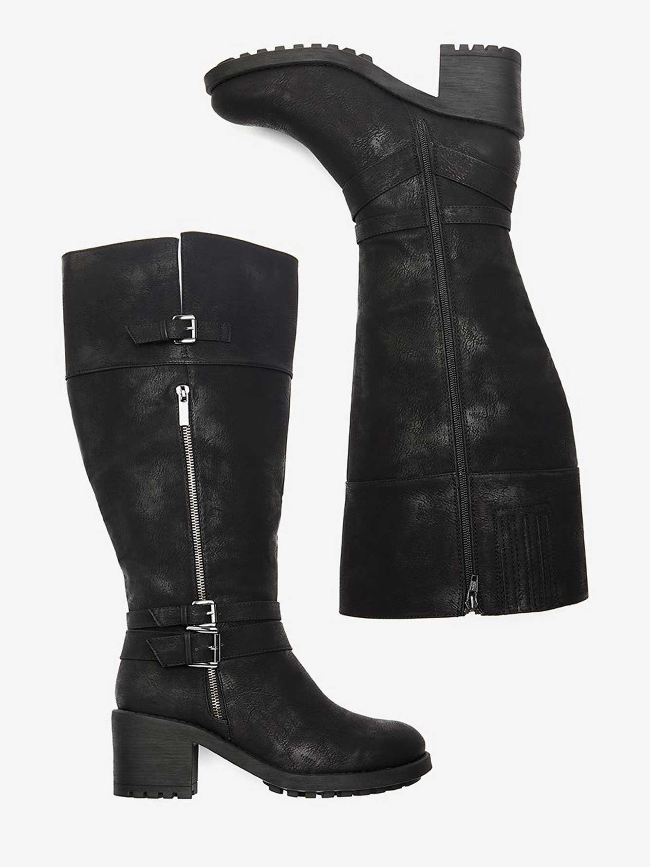 1723c7937917a Boots with Strap Details - Sandra | Addition Elle