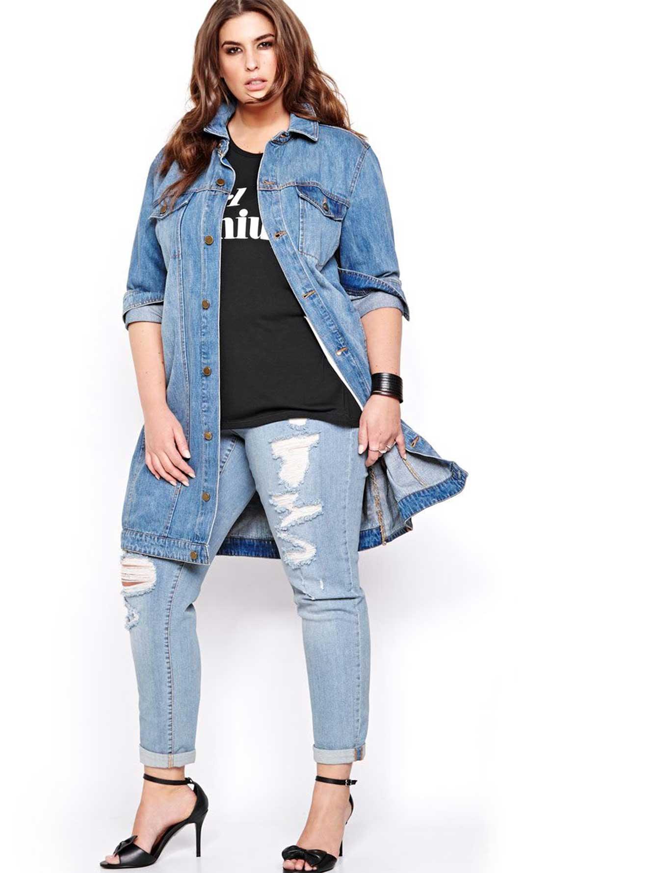 Rachel Roy Oversized Jean Jacket Addition Elle