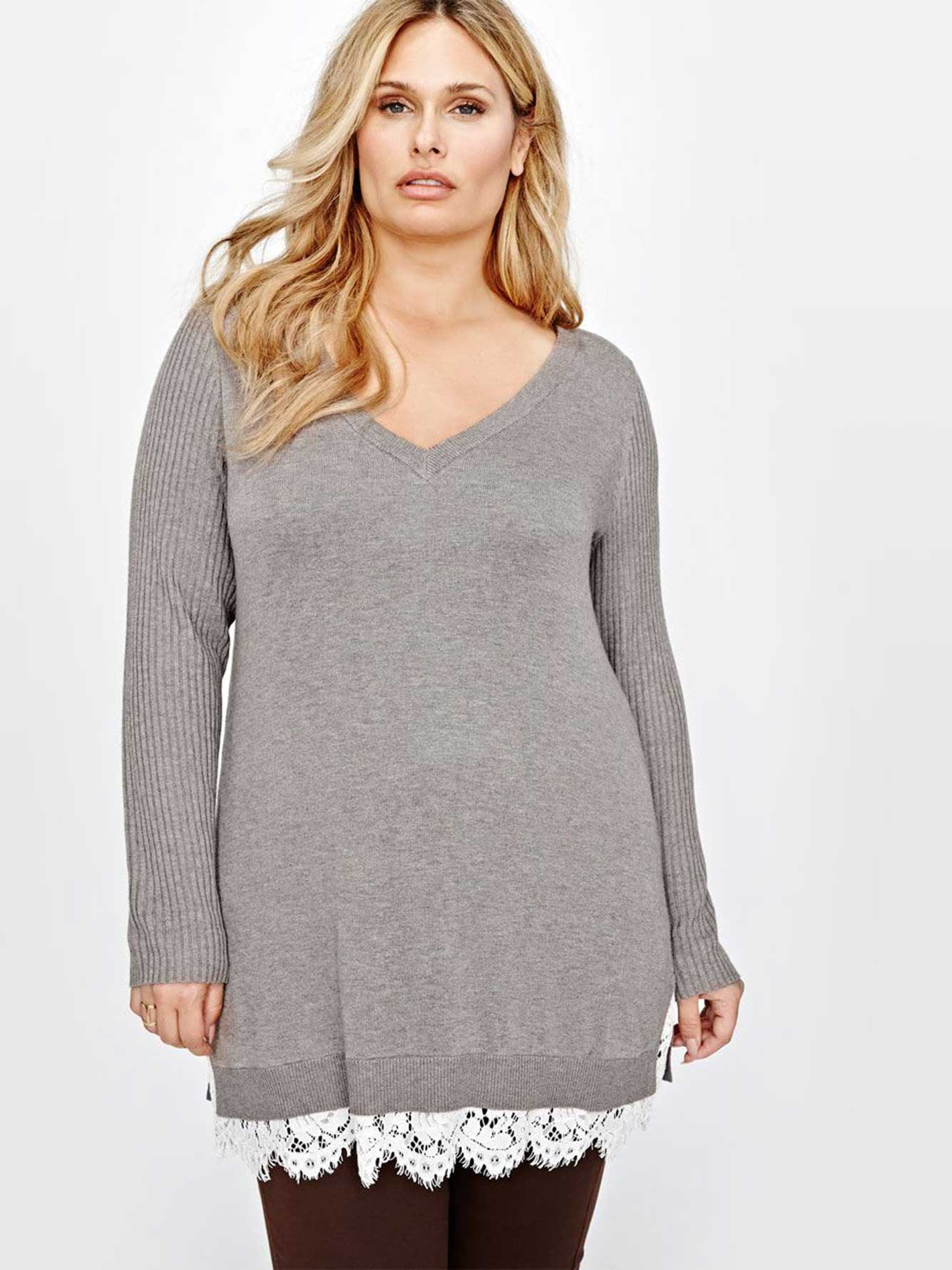 ecef5b769af Michel Studio Long Sleeves Sweater | Addition Elle