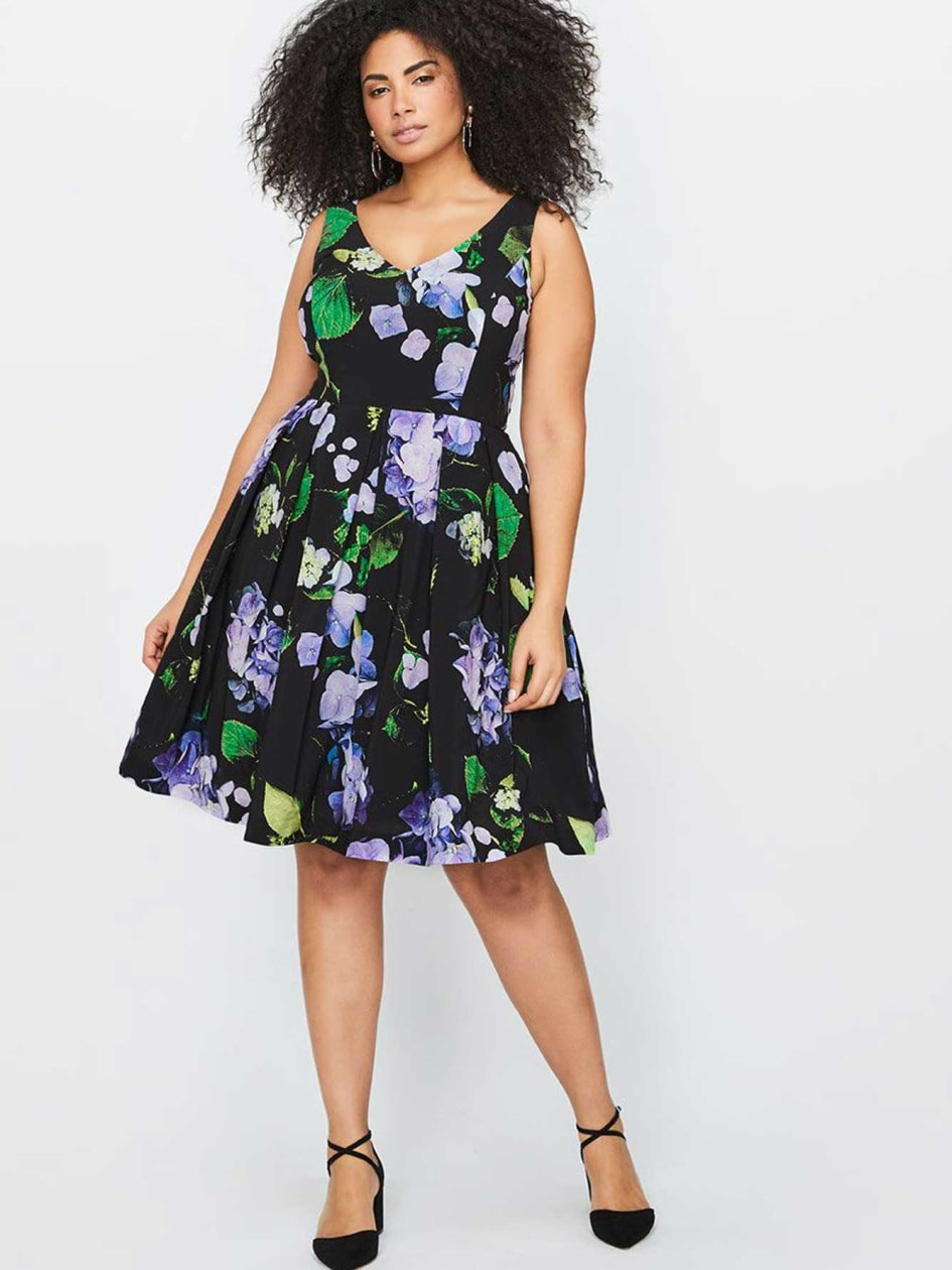 City Chic Fit & Flare Floral Dress
