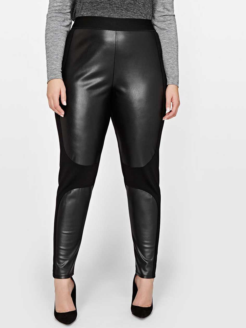 Rachel Roy Pull On Legging with Faux Leather