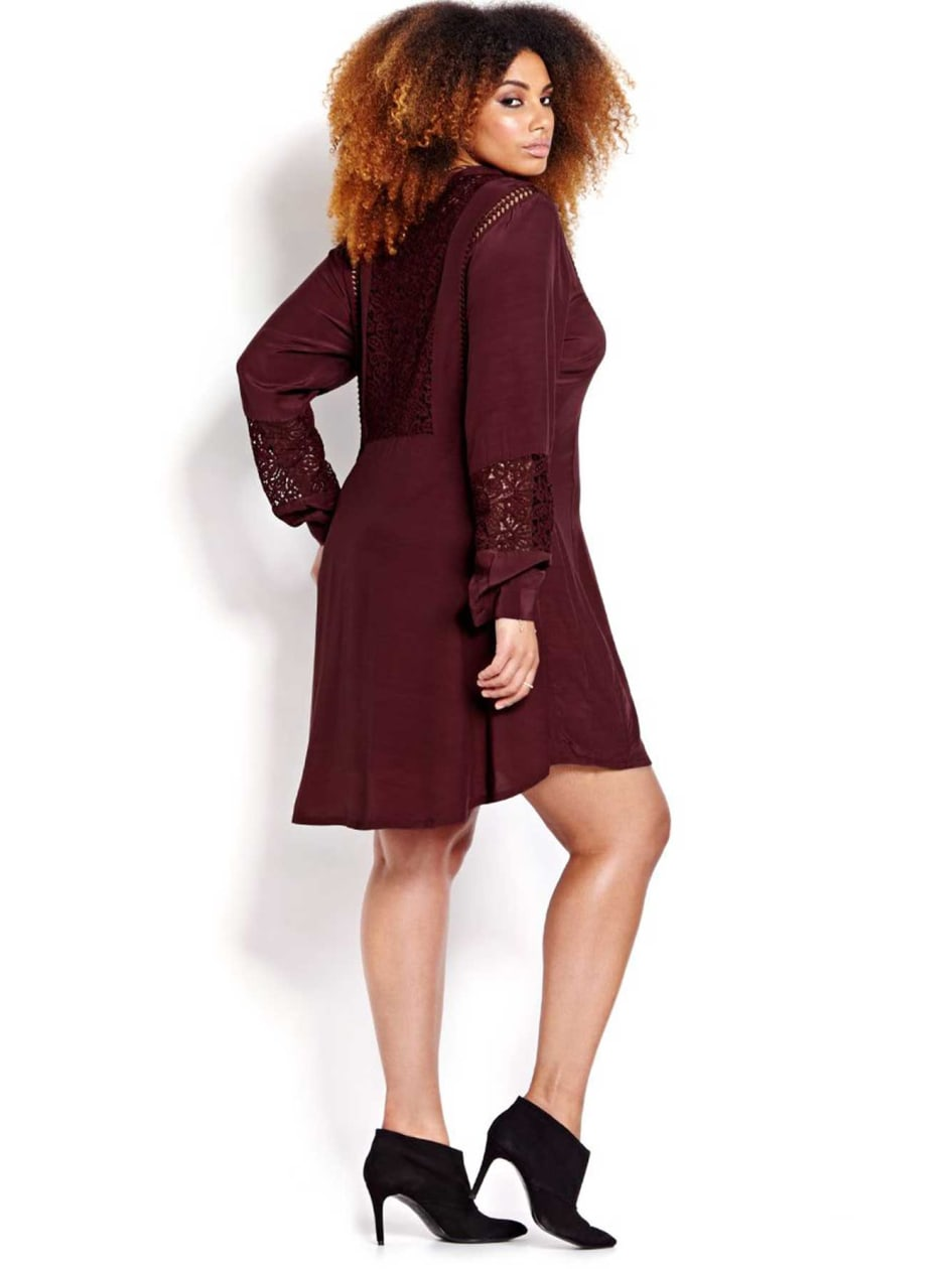 L&L Fit and Flare Shirt Dress