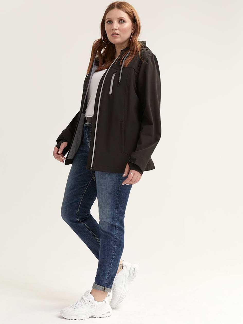 2ae779fd6ce Casual Soft-Shell Hooded Jacket - Nola