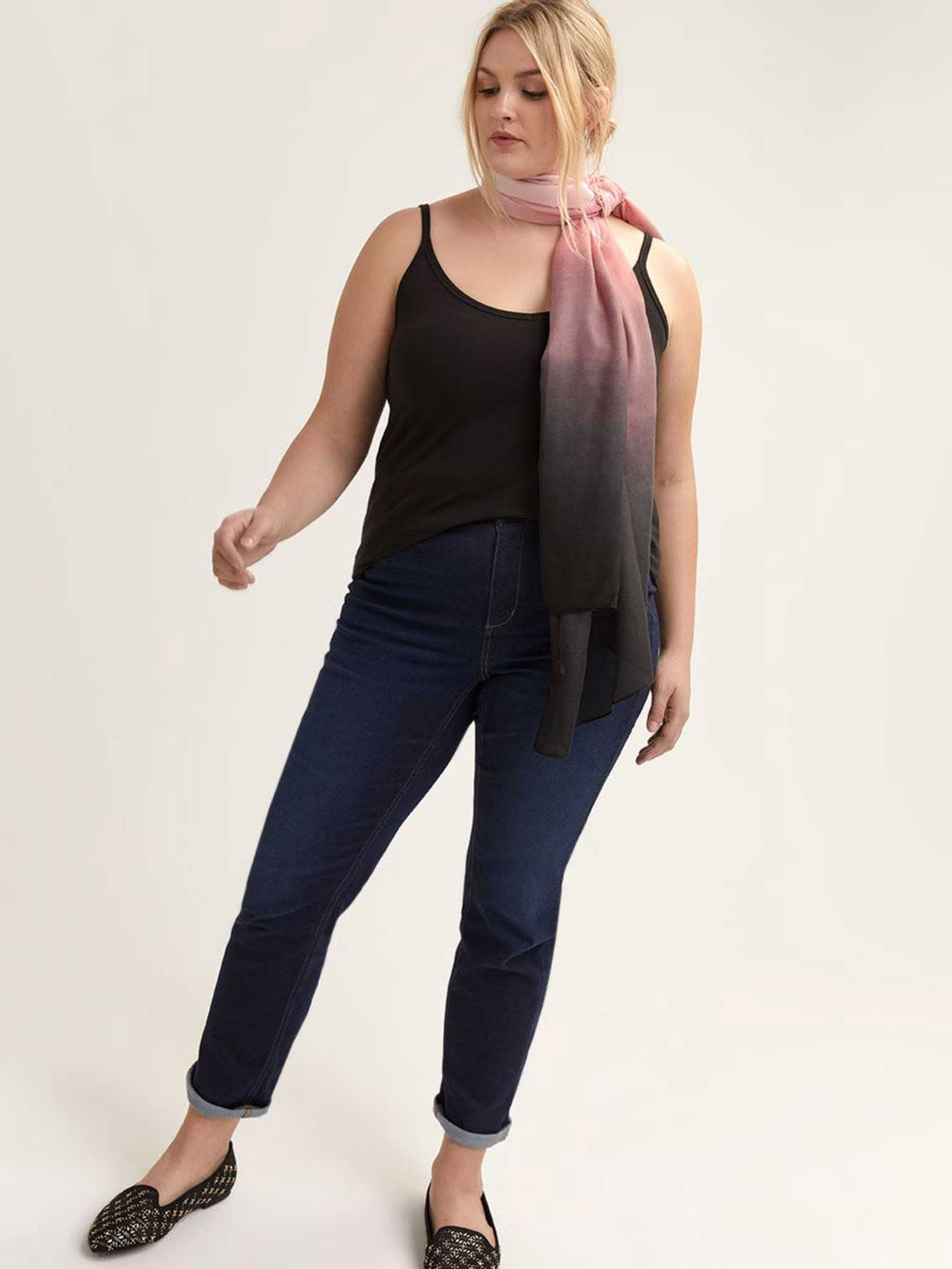Wide Lightweight Ombre Scarf