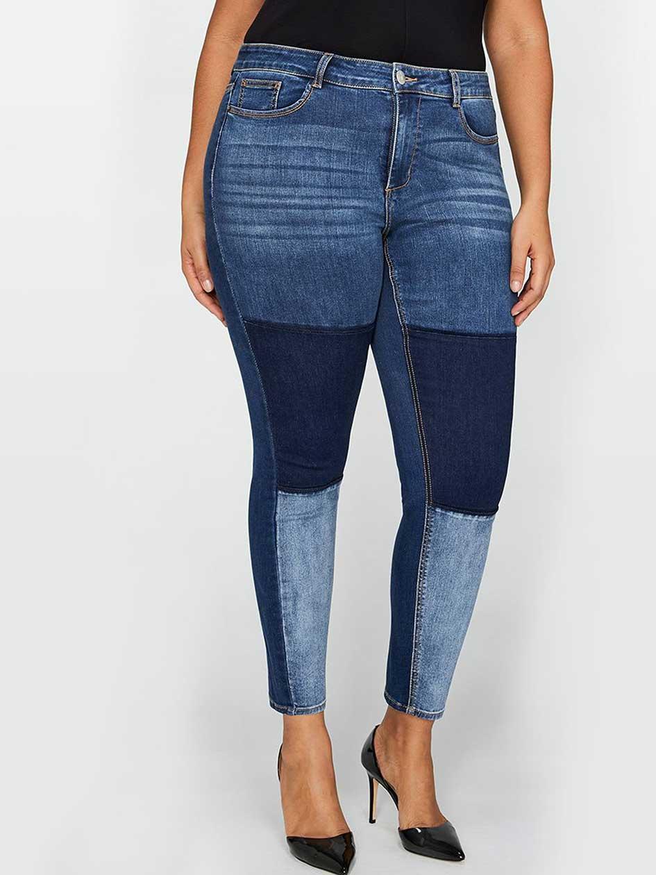 L&L Skinny Patchwork Jean