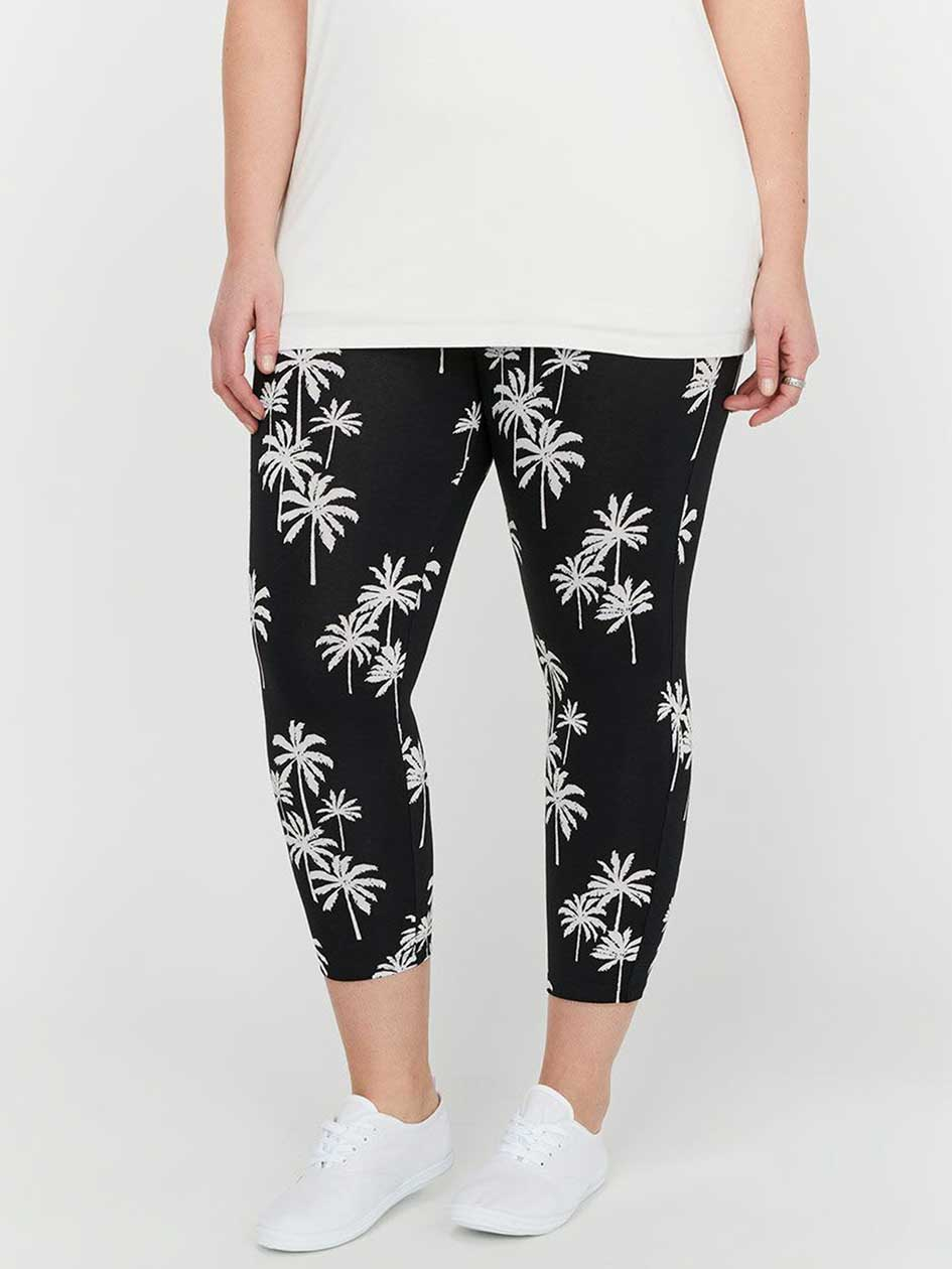 Capri Legging with Tropical Print