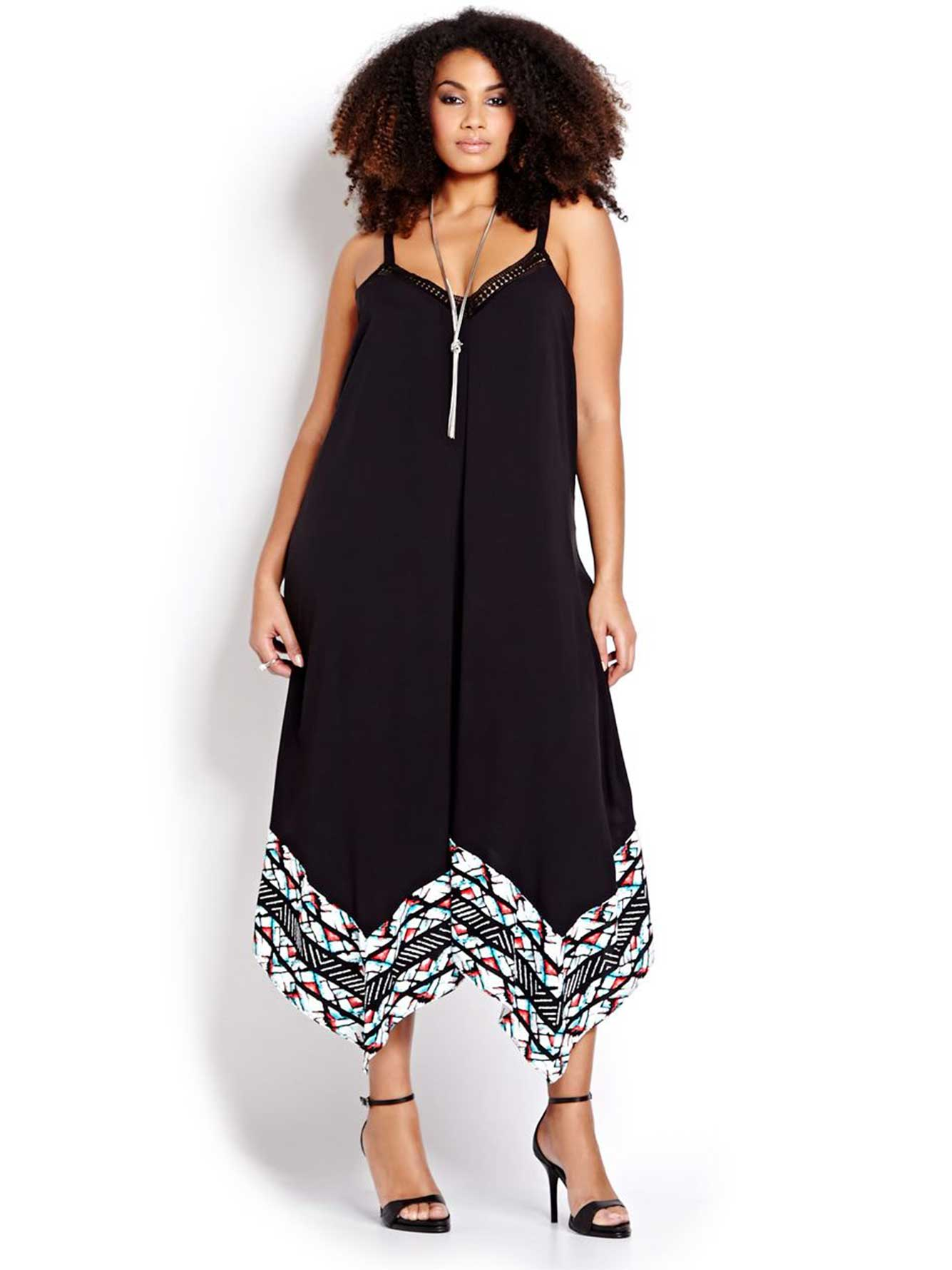 Sleeveless Handkerchief Maxi Dress - Addition Elle