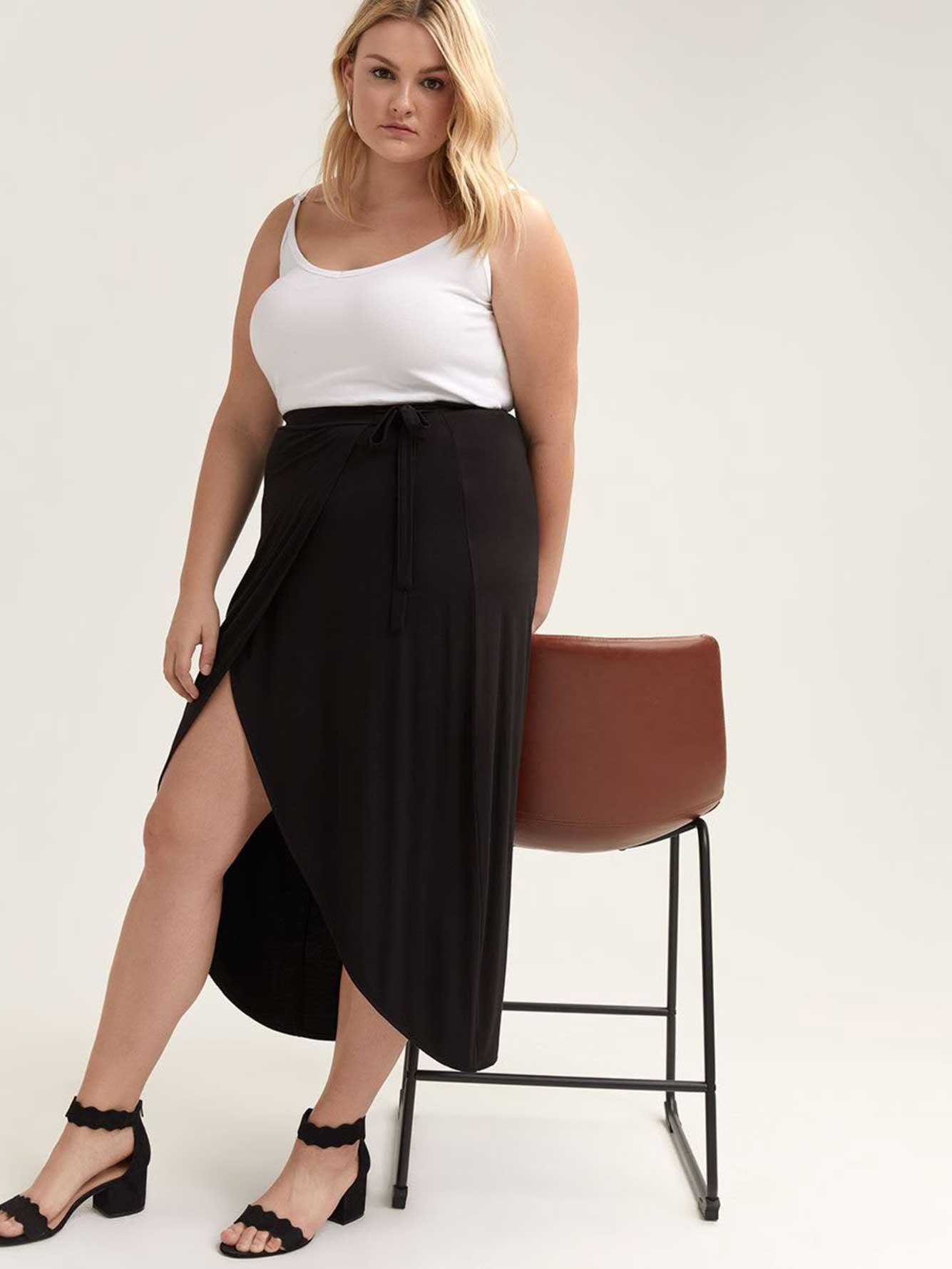 567554c66a Faux-Wrap Maxi Skirt - Michel Studio | Addition Elle
