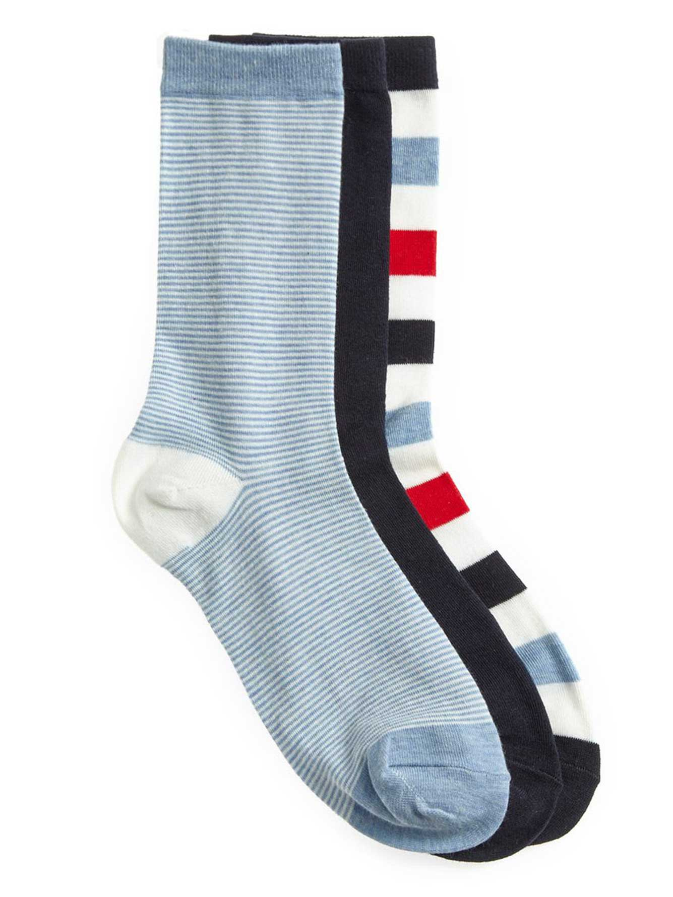 29eb40cf17 Colorful Striped Socks - 3 Pack | Addition Elle
