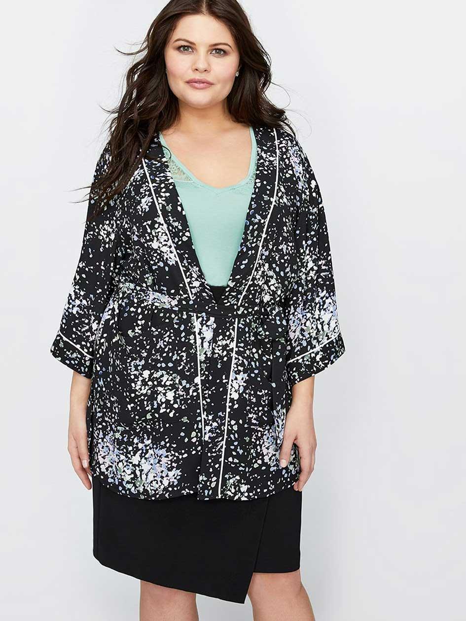 Michel Studio Floral Kimono Dress