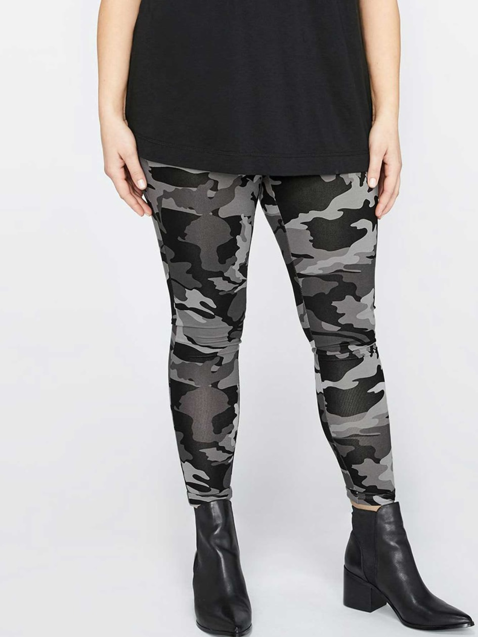 Grey Camo Legging