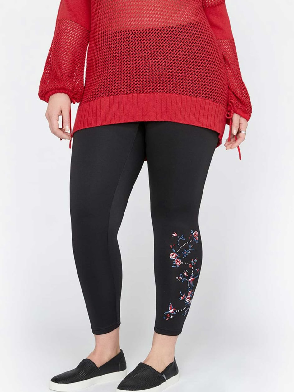 Legging with Embroidery