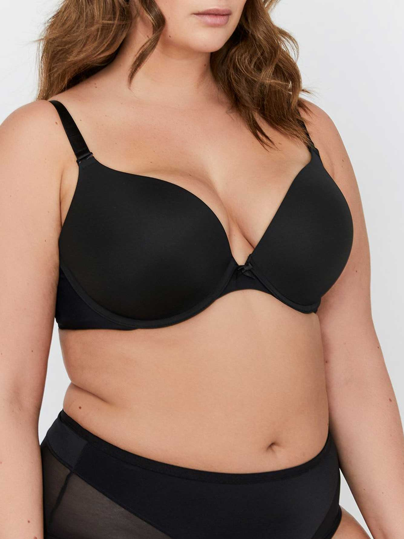 3780b0e02a936 Smooth Plunge Push Up Bra - Déesse Collection