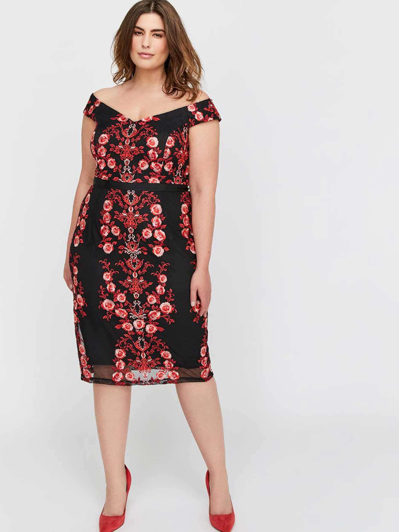db81d9b0ebe City Chic Fitted & Printed Dress   Addition Elle