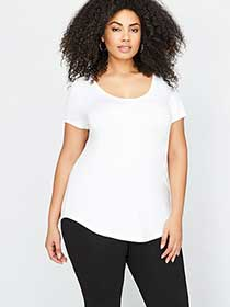 Michel Studio Modern T-shirt with Scoop Neck