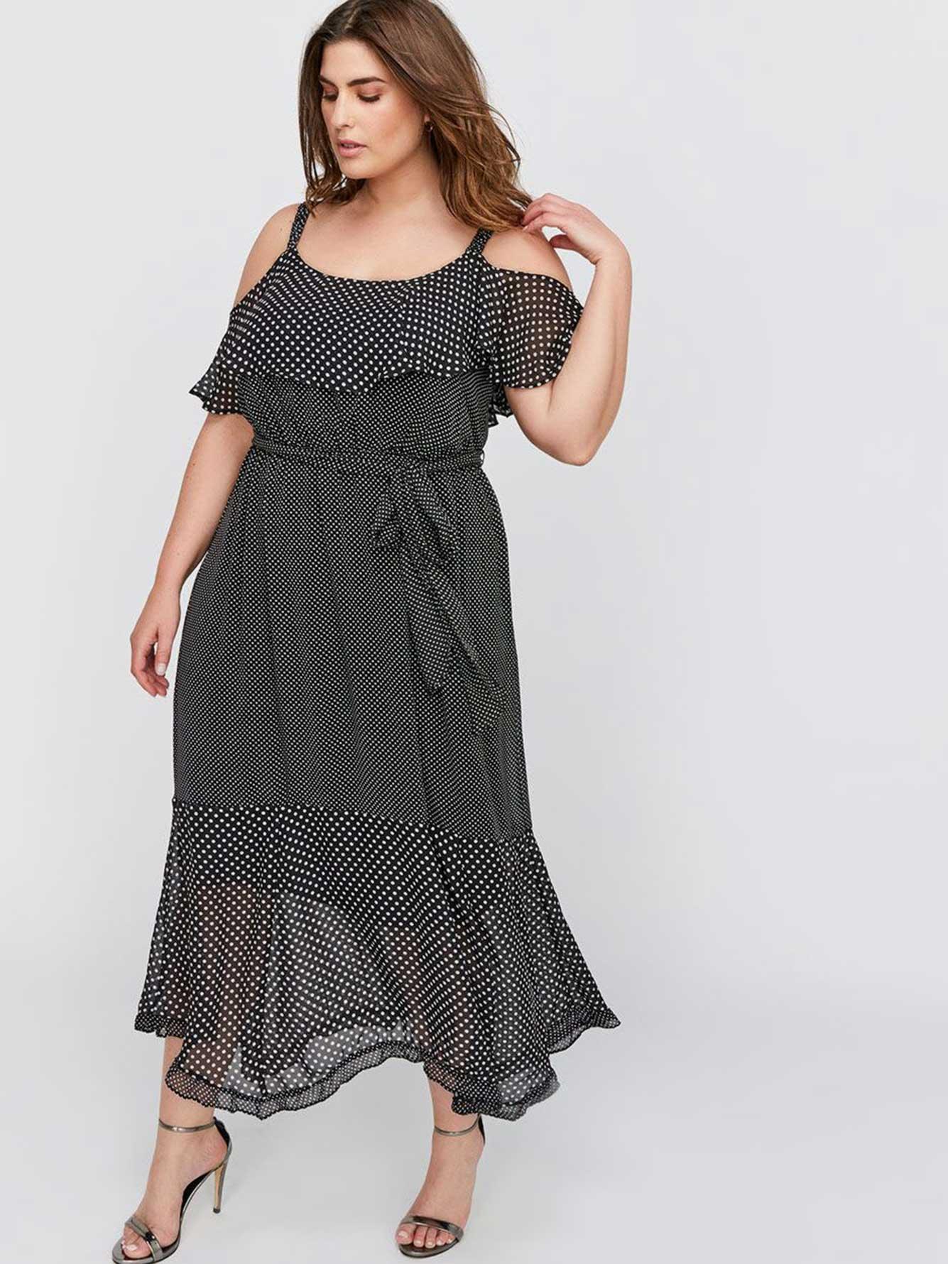 9bf12d2f Calvin Klein Floral Print Chiffon Maxi Dress