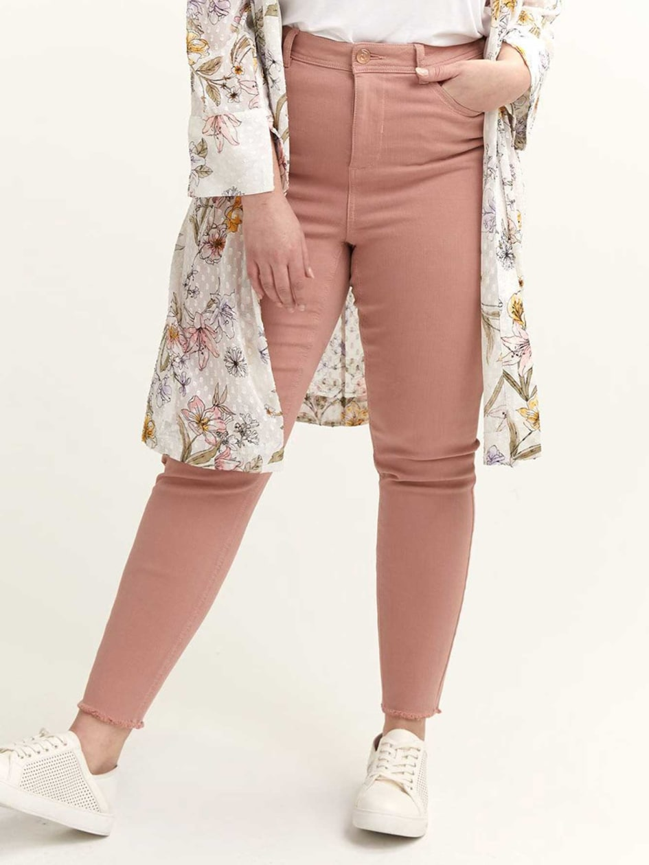 4af733c6e0c High-Waisted Rose Skinny Jean - L L