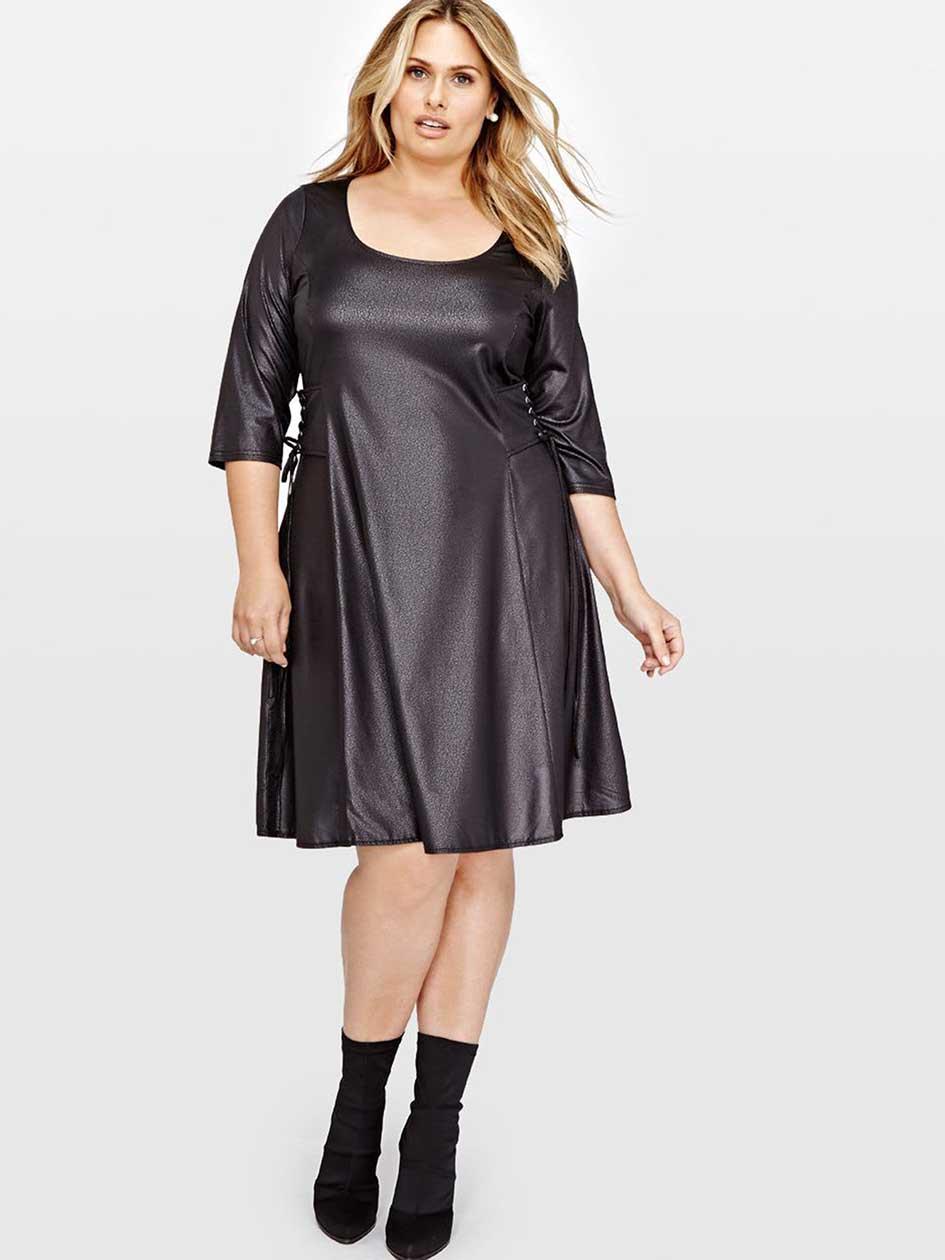 L&L Side Lace-Up Swing Dress
