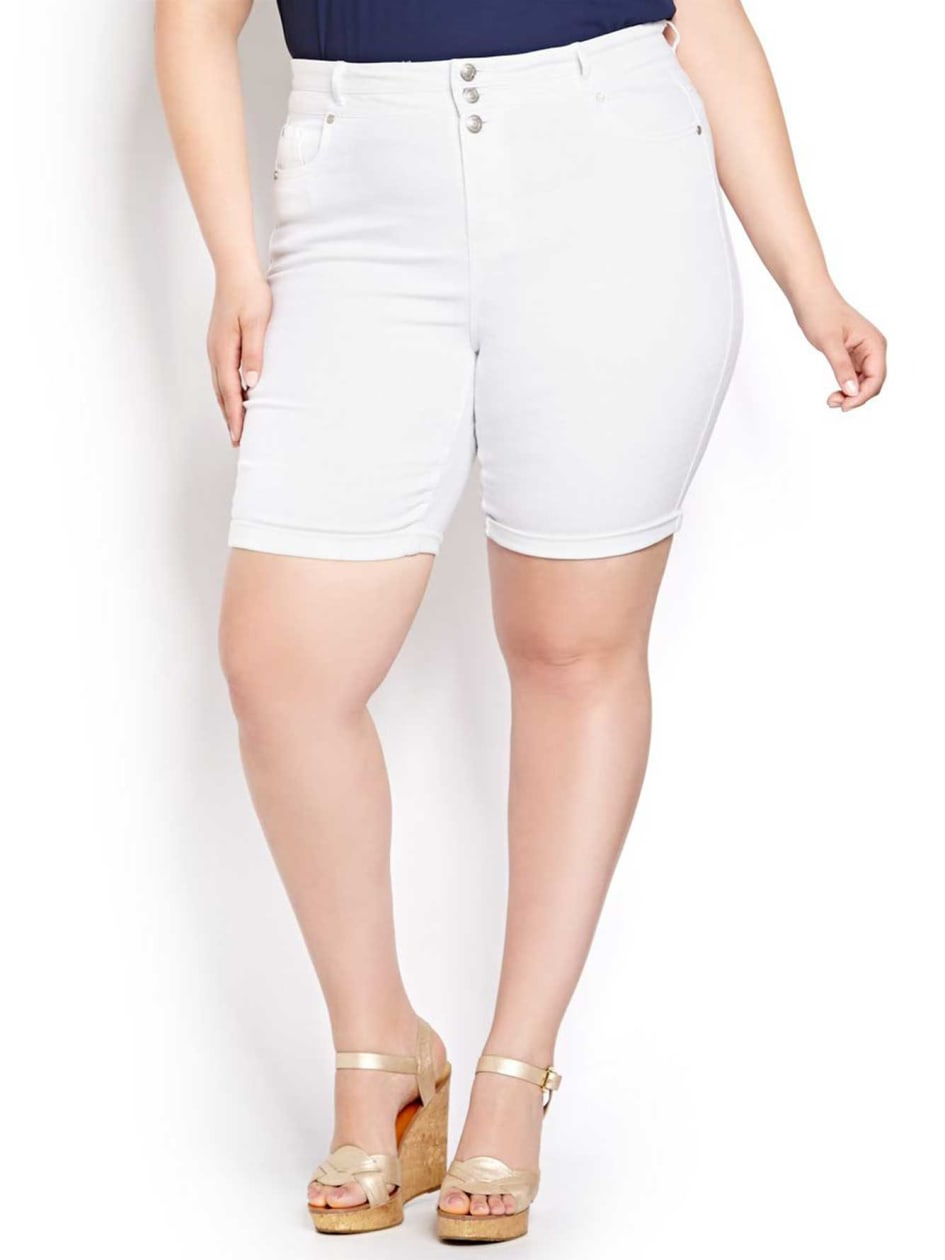 L&L High Waist Rolled Bermuda