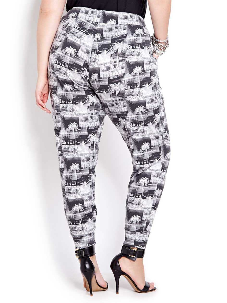 Love &Legend Printed Pull On Pant