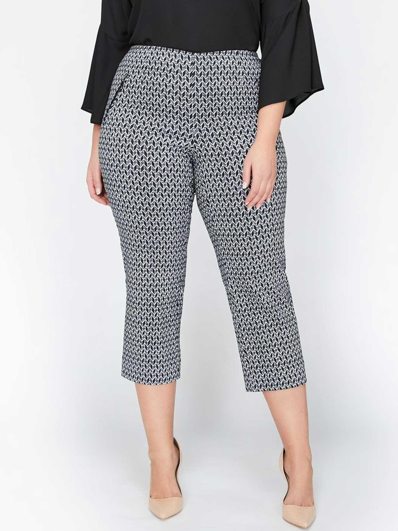 7abfdf85120d Michel Studio Alexa Printed Cropped Capri Pants