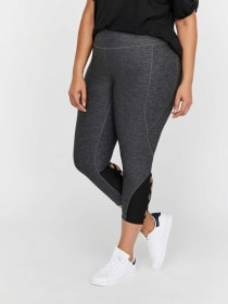 Nola Color Block Back Ladder Capri Leggings