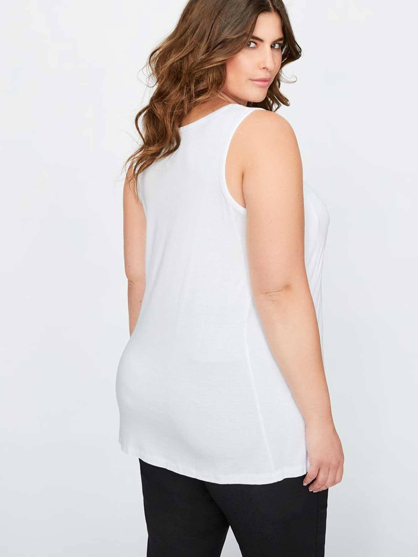 b8e4834638a7a Michel Studio Solid Swing Tank Top