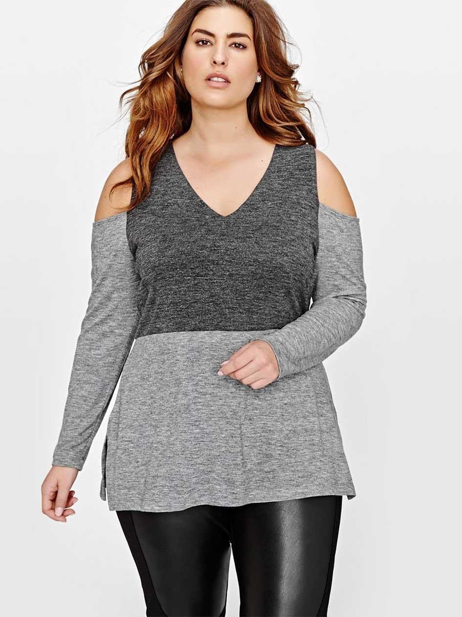 Rachel Roy V-Neck Cold Shoulder Tunic