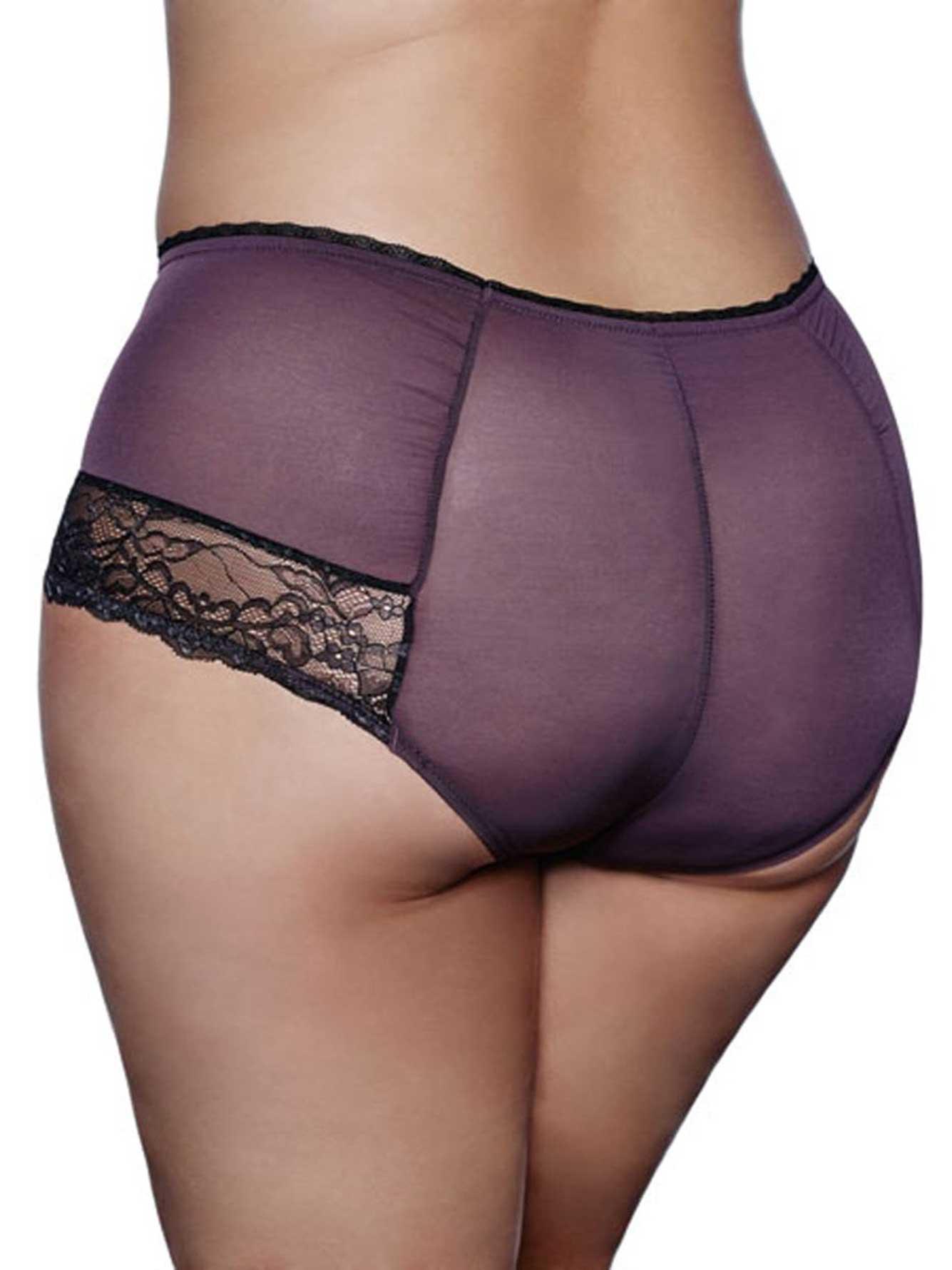 790622ce657 Ashley Graham Satin and Lace Boyshort Panty | Addition Elle