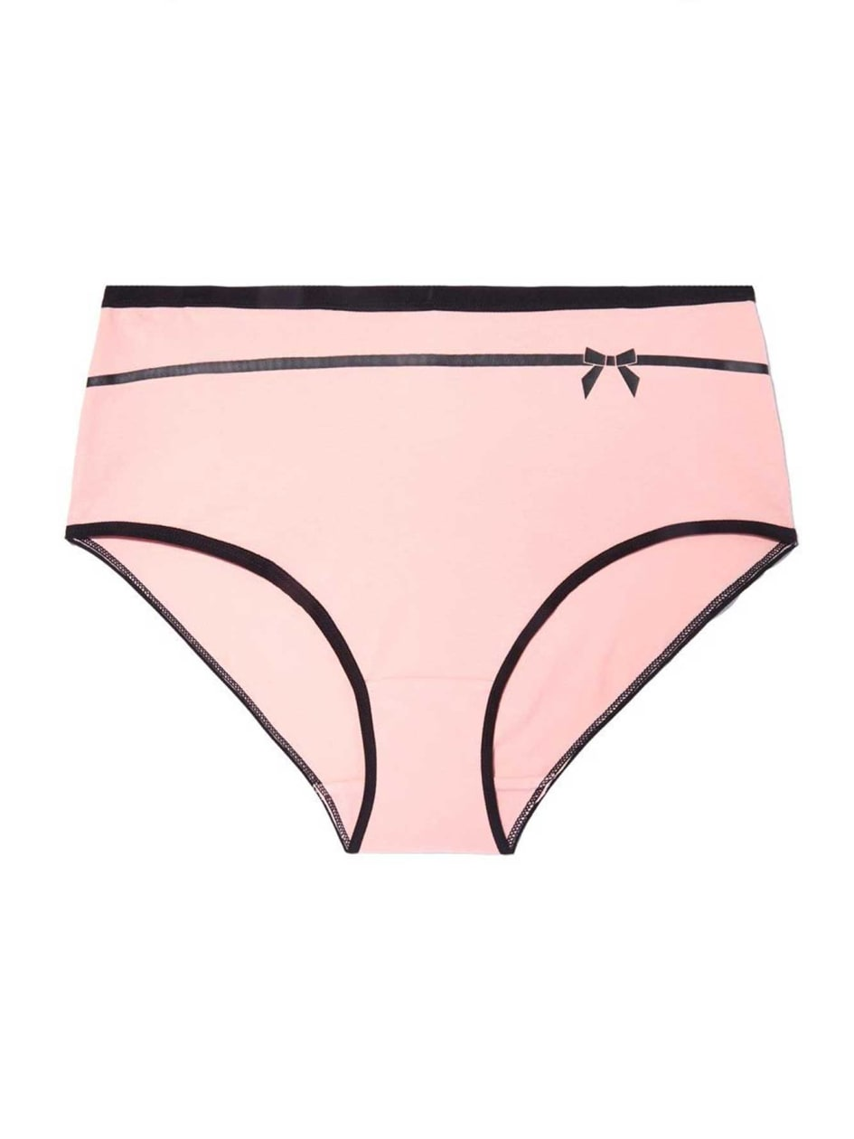 Full Brief Panty with Print - Déesse Collection.Black and pink.X 86933496