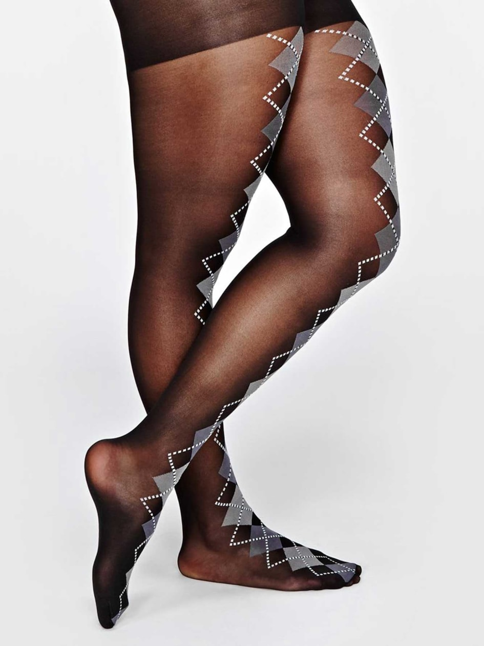 1920s Style Stockings, Tights, Fishnets & Socks Argyle Tights $18.00 AT vintagedancer.com