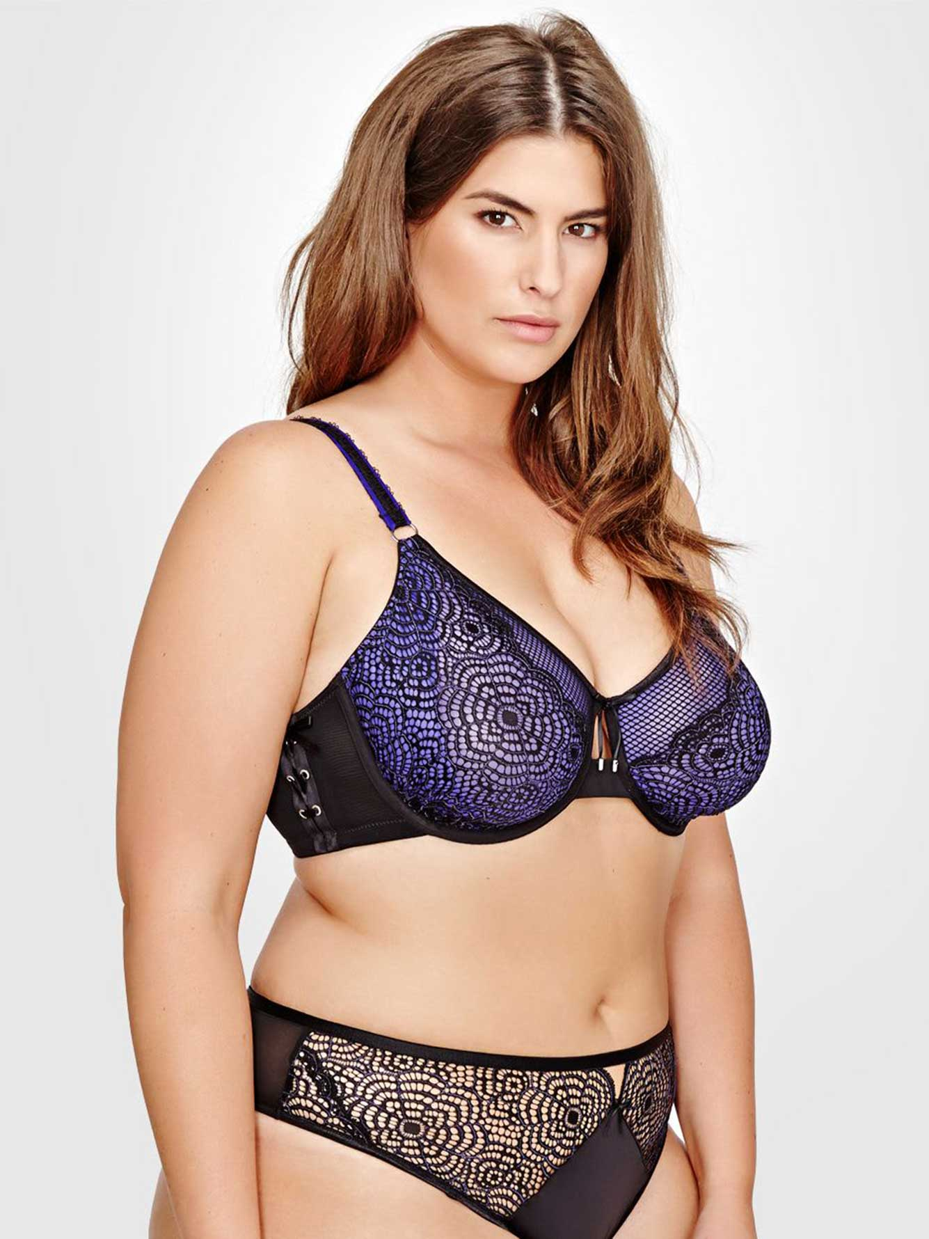 e67a987c540 Ashley Graham Fatal Attraction Bra with Laced Up Side