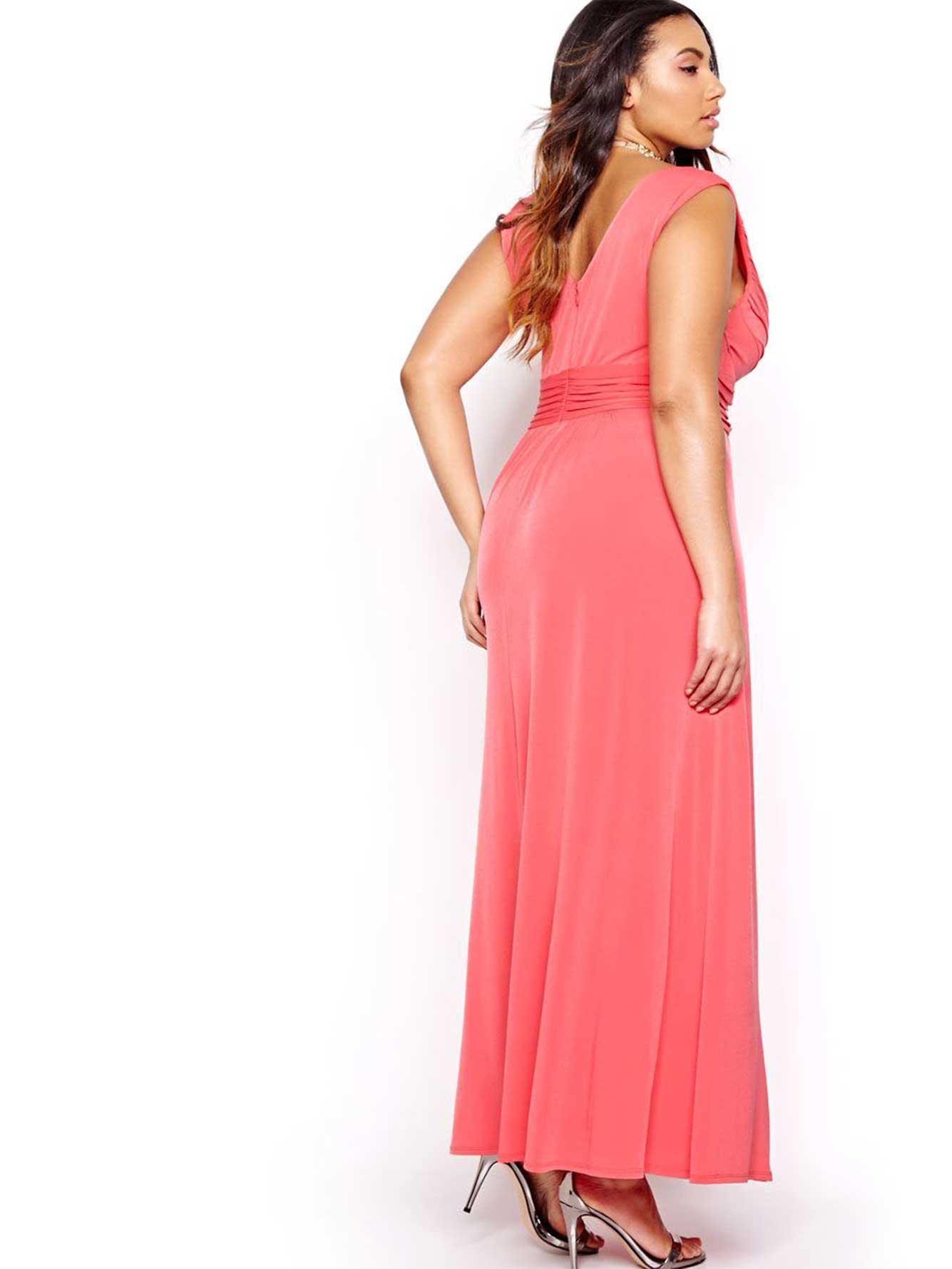 Sangria Criss Cross Bodice Maxi Dress Addition Elle