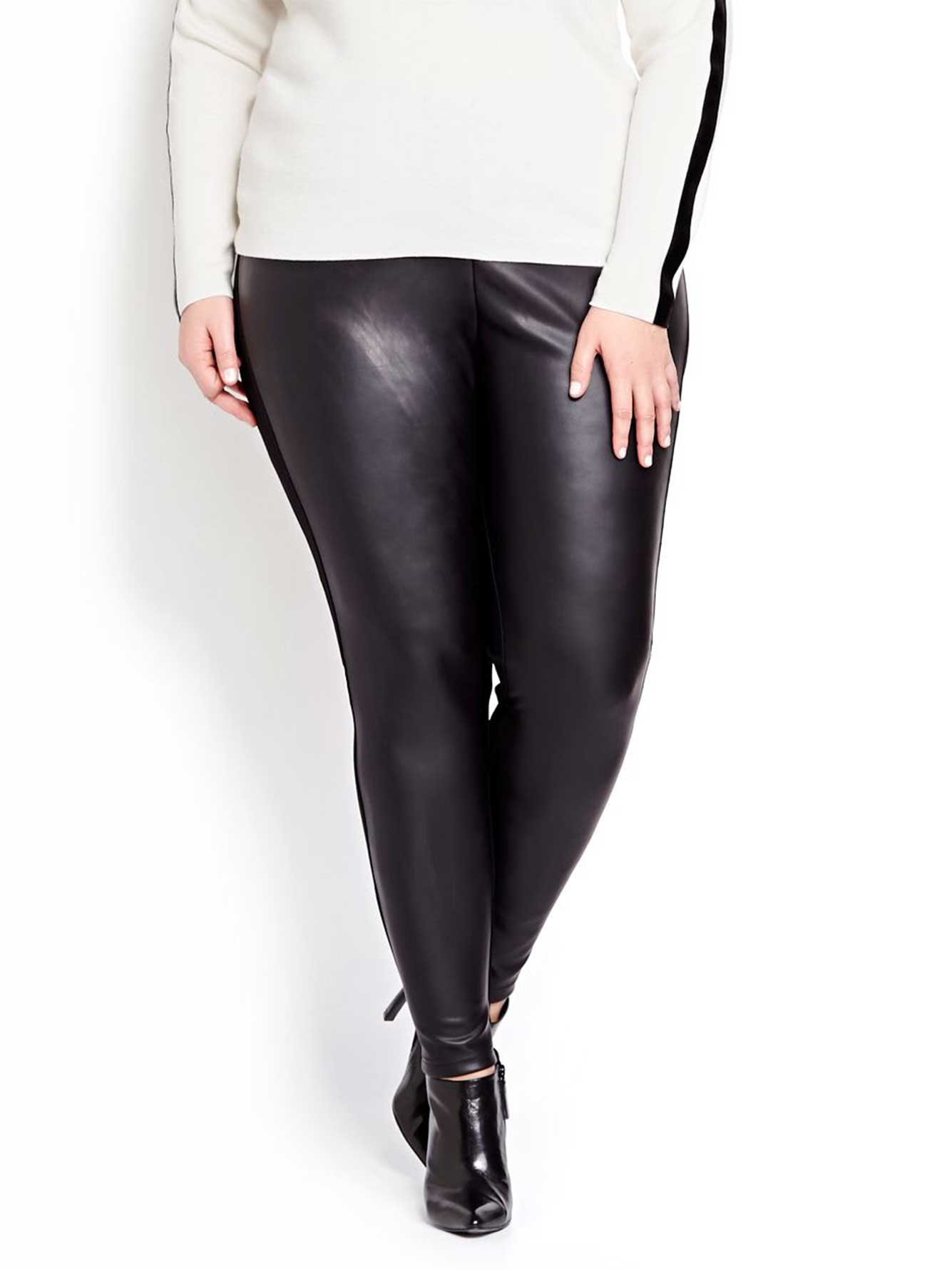 14a6750910054 Katherine Barclay Faux Leather Front Legging   Addition Elle