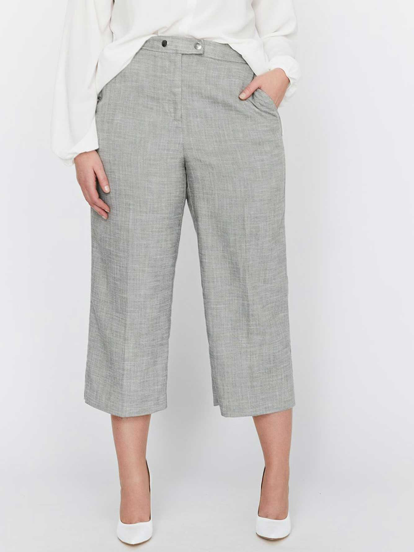 92d34aaebd4 Michel Studio Wide Leg Cropped Pant