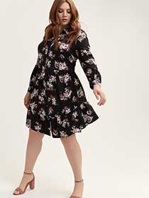 Fit & Flare Buttoned Down Dress - Michel Studio