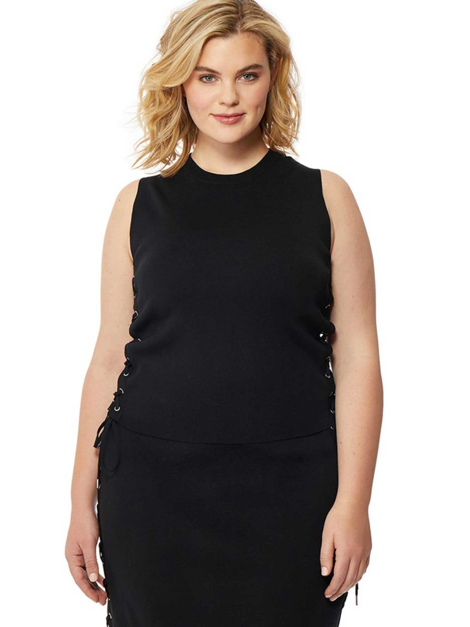 Rebel Wilson Side Lace-Up Sleeveless Top