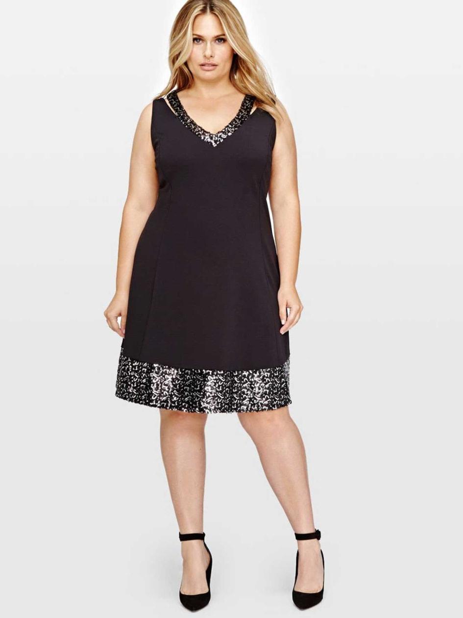 Michel Studio A-Line Embellished Dress