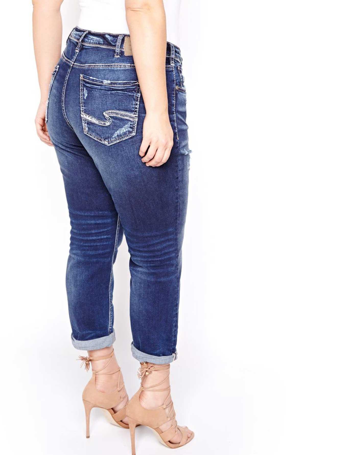 Silver Sam Boyfriend Rolled Up Jeans