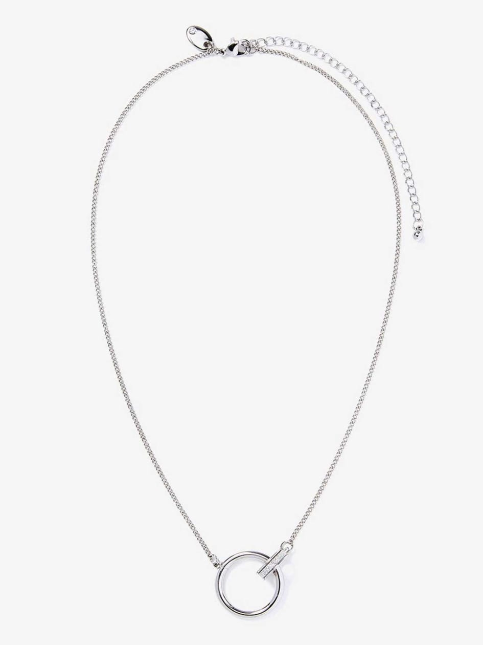 Linked Ring Pendant Necklace.Silver.1Size 30970615