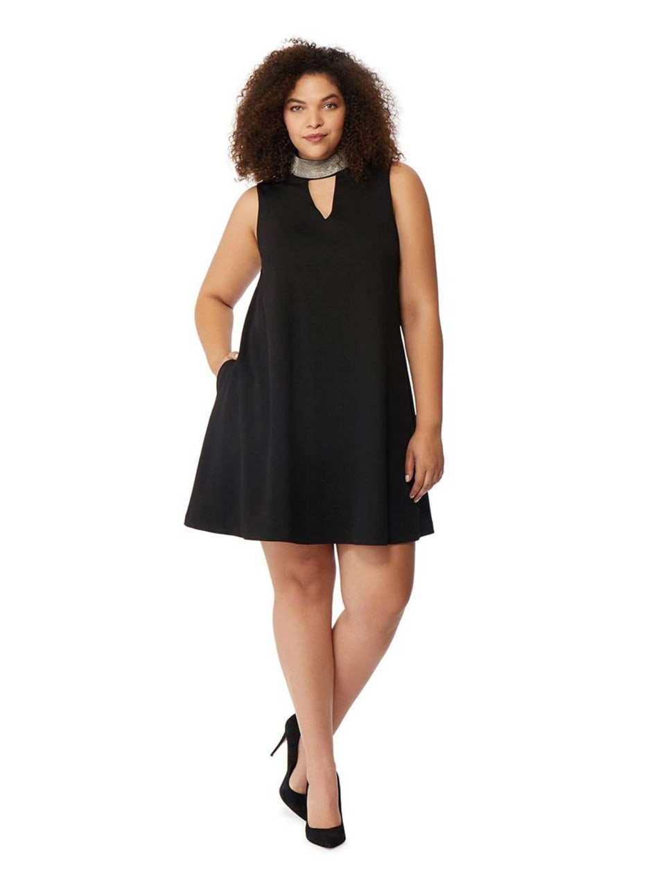 Rebel Wilson Beaded Choker Dress