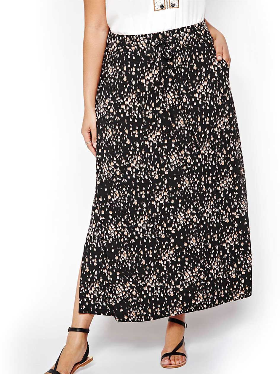 Michel Studio Long Skirt with Floral Print