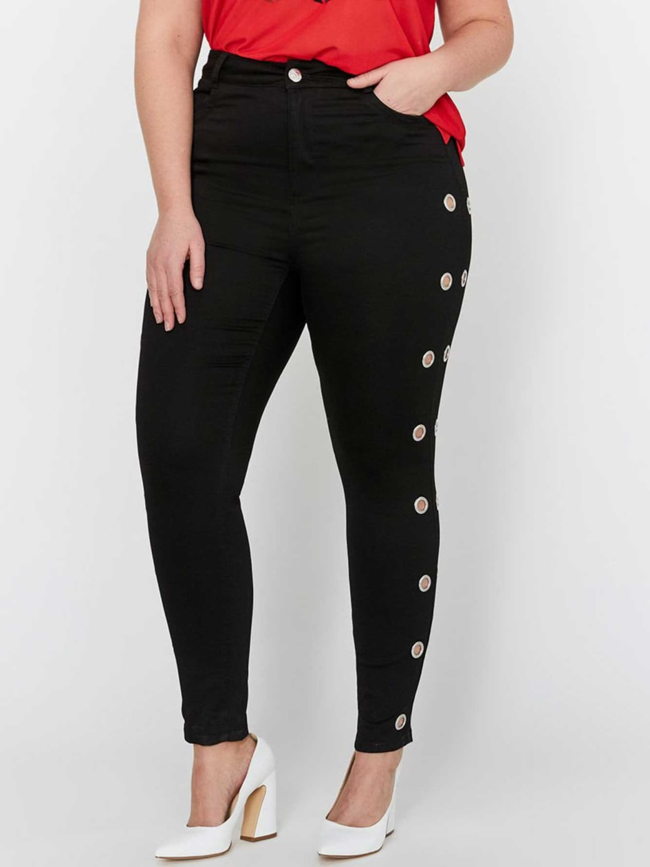 L&L x Jordyn Woods Grommet Skinny Pants