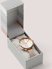 Pink Duo Watch with Gift Box