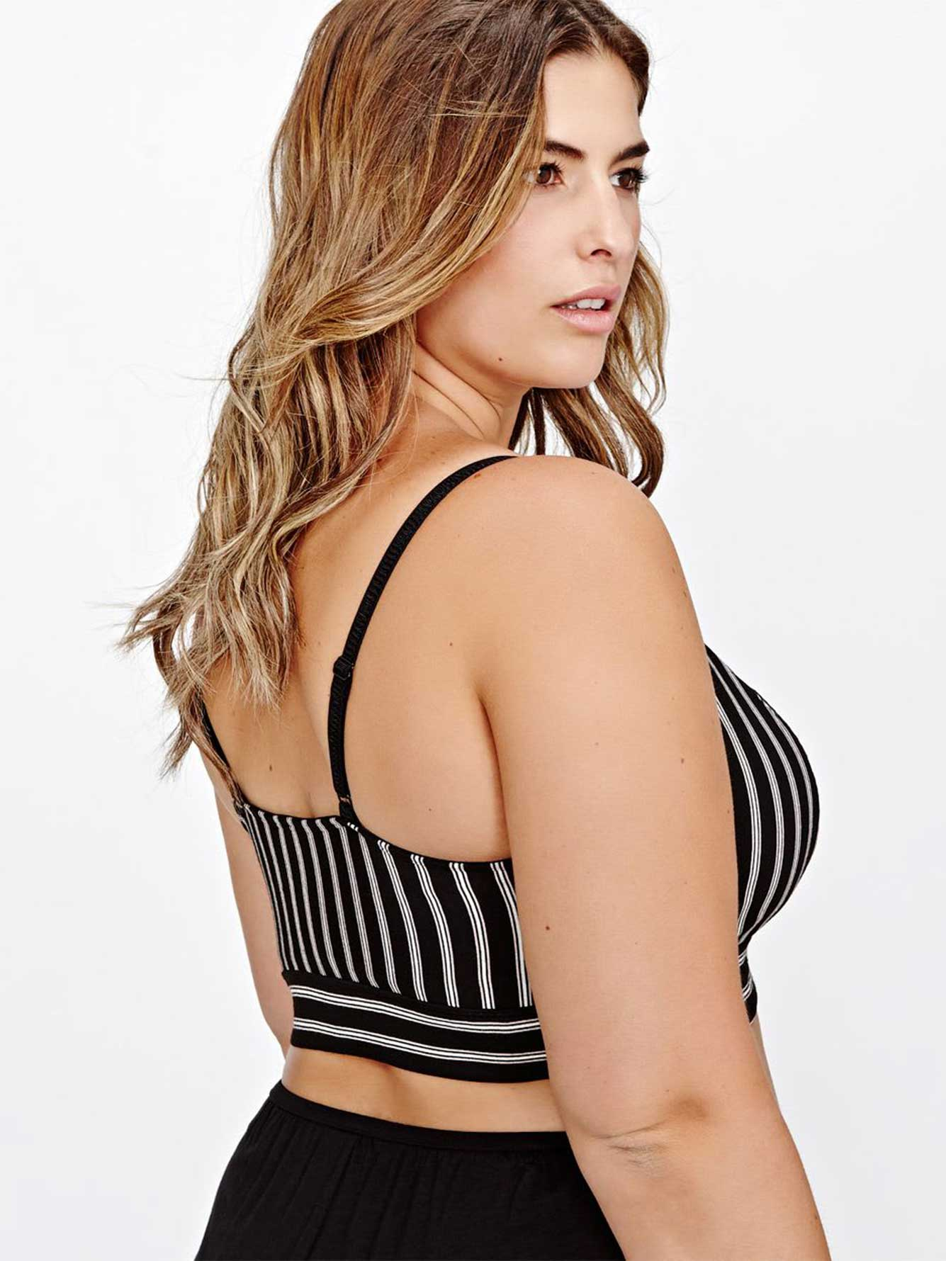 Lace & Stripes Bralette - Déesse Collection
